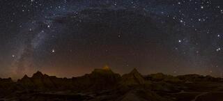 Badlands Winter Milky Way