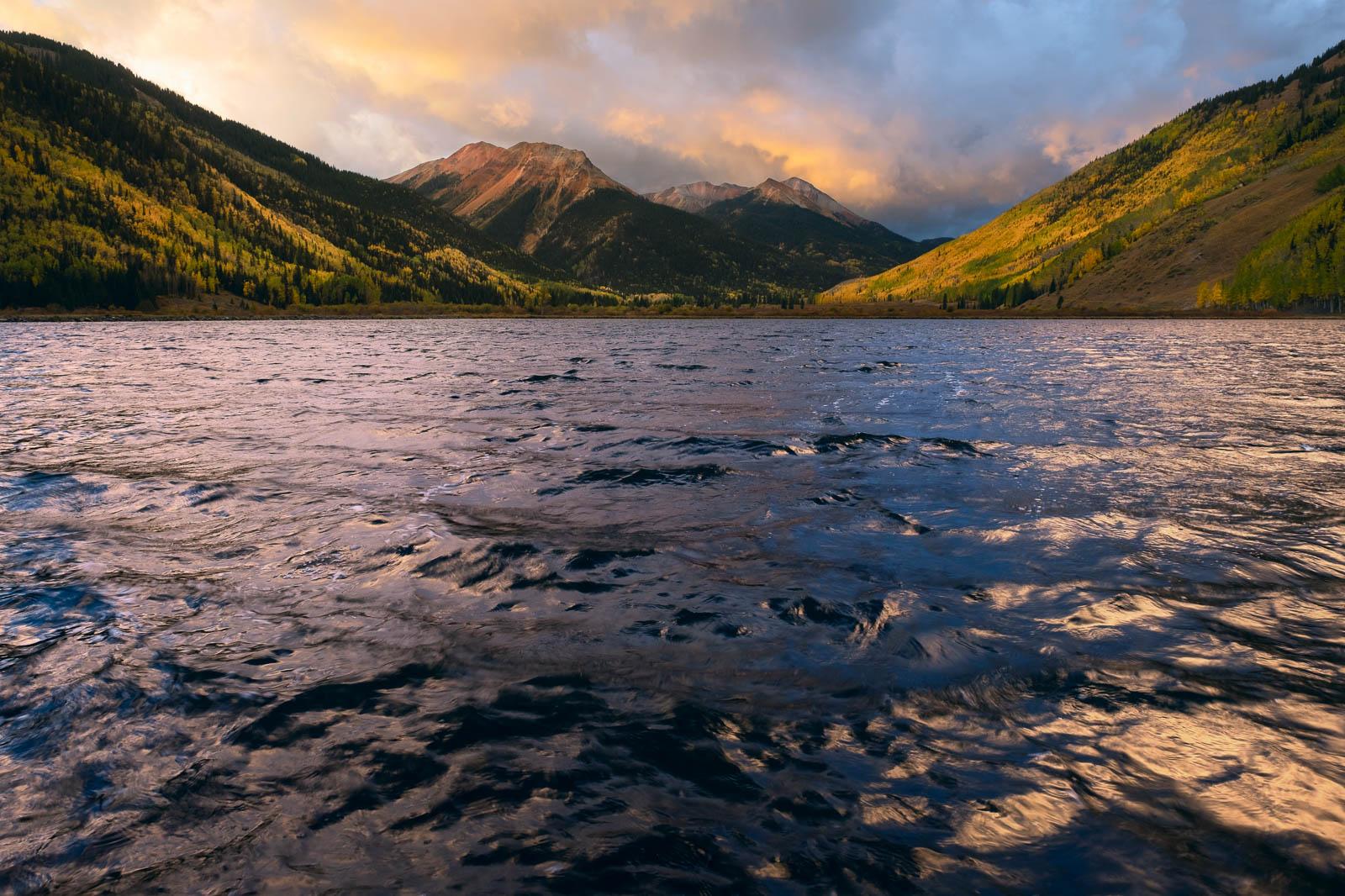 Time, aspen, autumn, blue, colorado, crystal lake, dramatic, fall, landscape orientation, red mountain, rocky mountains, san...