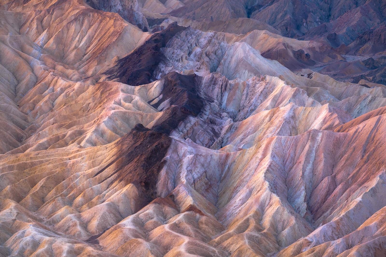 badlands, brown, california, death valley national park, landscape orientation, yellow, mojave desert