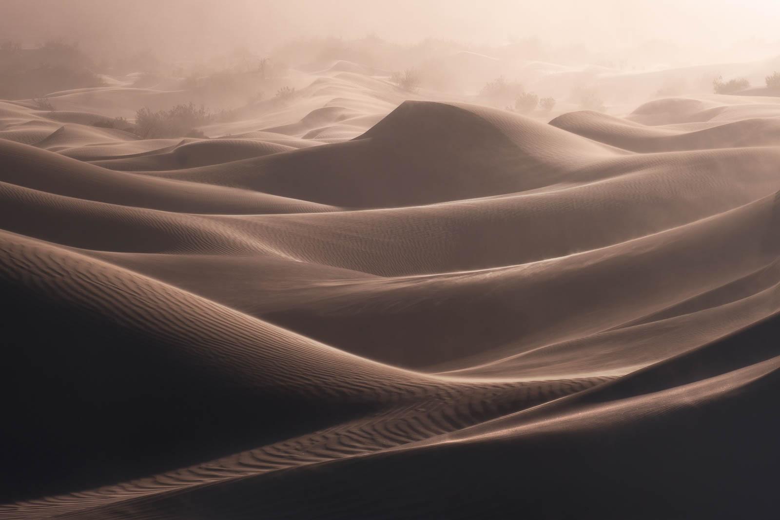 brown, california, death valley national park, dramatic, landscape orientation, mesquite dunes, mojave desert, sand dunes
