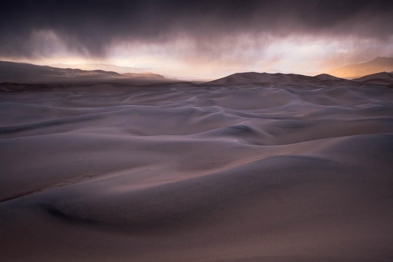 Time, brown, california, death valley national park, eureka dunes, landscape orientation, mojave desert, sand dunes, sunset